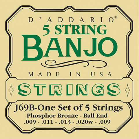 Cordes pour instrument à corde D'Addario J69B 5-String Banjo