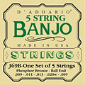 Saiten Zupfinstrument D'Addario J69B 5-String Banjo