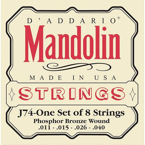 Saiten Zupfinstrument D'Addario J74 Mandolin