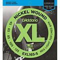 Struny do elektrycznej gitary basowej D'Addario EXL165-5 Nickel Wound .045-135