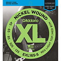 Electric Bass Strings D'Addario EXL165-5 Nickel Wound .045-135