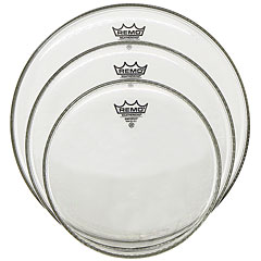 "Remo Emperor Clear 10""/12""/14"" Drum Head Pack « Juego de parches"