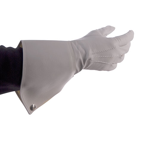 Bold Gauntlet Gloves White Size 8