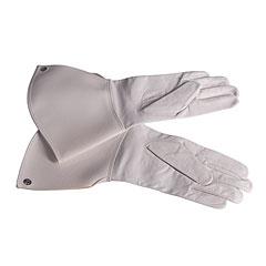 Bold Gauntlet Gloves White Size 8 1/2