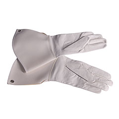 Bold Bold Gauntlet Gloves White Size 9