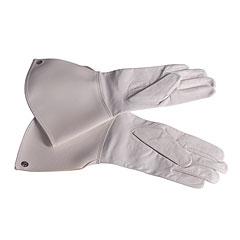 Bold Gauntlet Gloves White Size 9 1/2