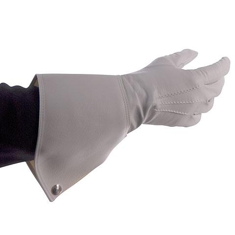 Bold Gauntlet Gloves White Size 10