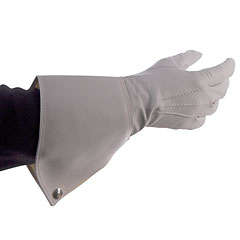 Bold Gauntlet Gloves White Size 10 « Showpiece Gloves