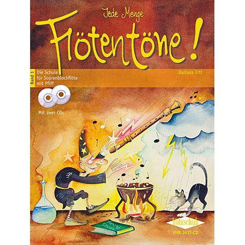 Libros didácticos Holzschuh Jede Menge Flötentöne! 1 - Die Schule für Sopranblockflöte mit Pfiff  (mit 2CDs)