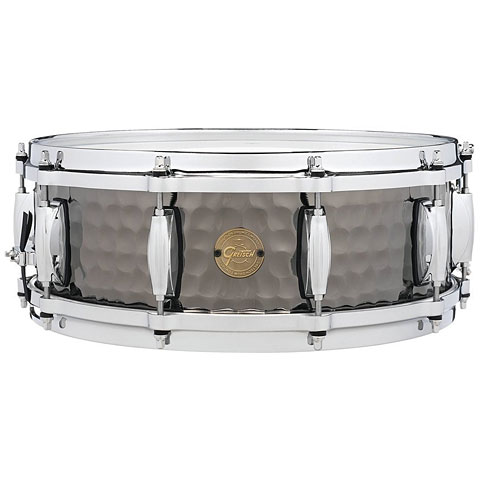 "Gretsch Drums Full Range 14"" x 5"" Hammered Black Steel Snare"