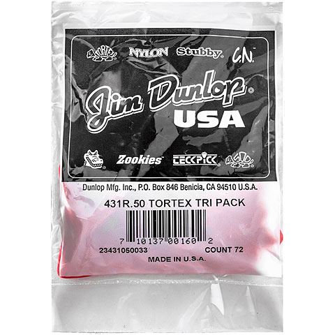 Dunlop Tortex Triangle 0,50mm (72Stck)