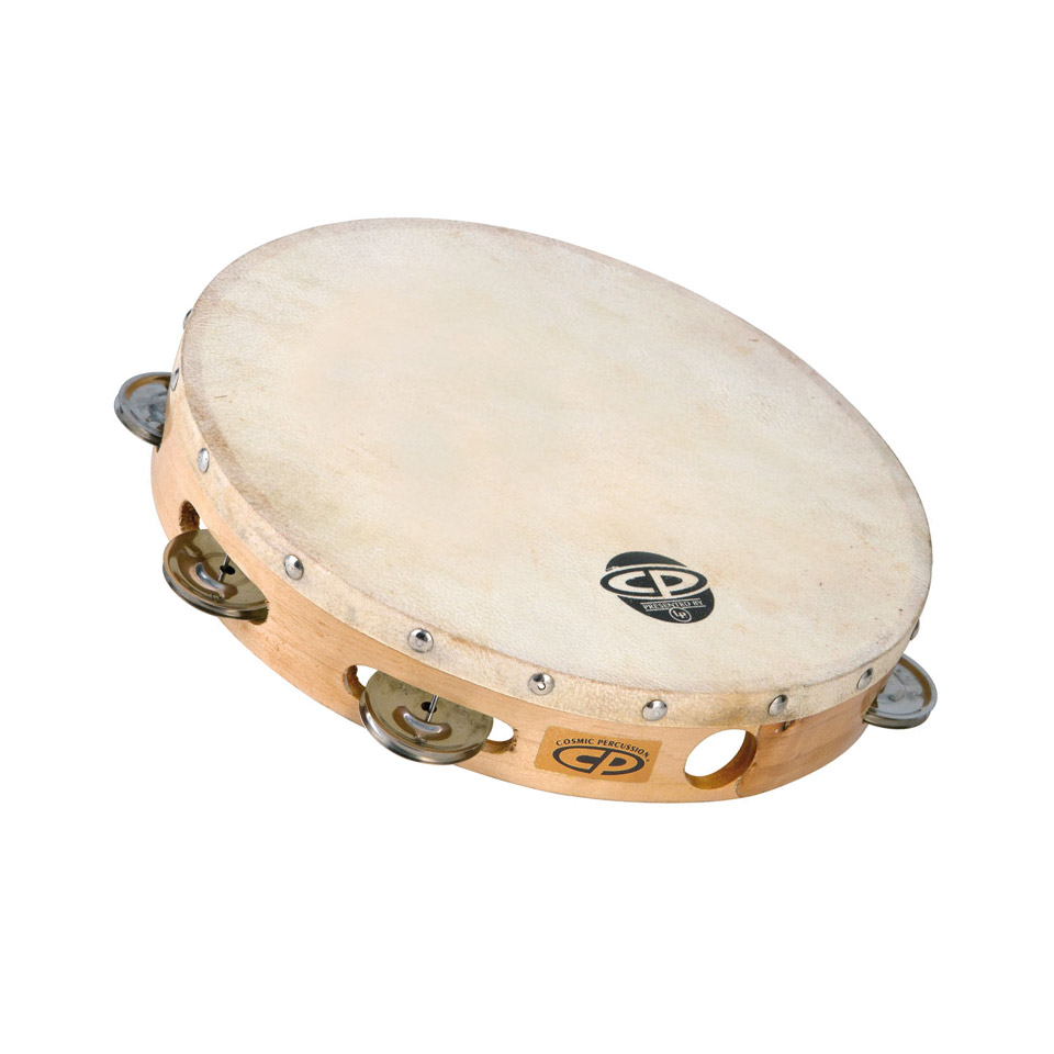 Percussion - Latin Percussion CP CP379 Wood Headed Tambourine Tambourin - Onlineshop Musik Produktiv