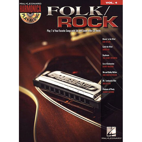Hal Leonard Harmonica Play-Along Vol.4 - Folk Rock