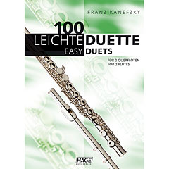 Hage 100 Leichte Duette für 2 Querflöten « Recueil de Partitions