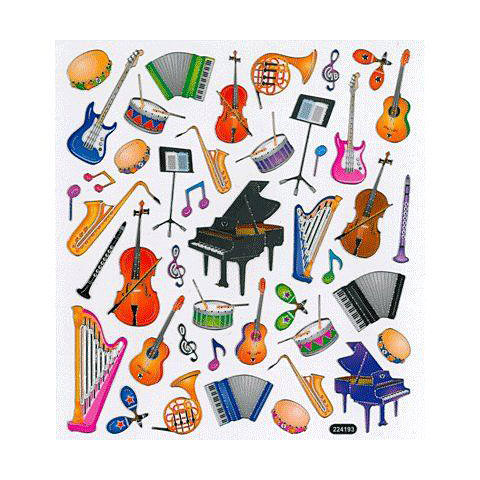 Aufkleber AIM Gifts Musical Instruments Stickers