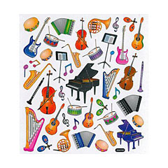 AIM Gifts Musical Instruments Stickers