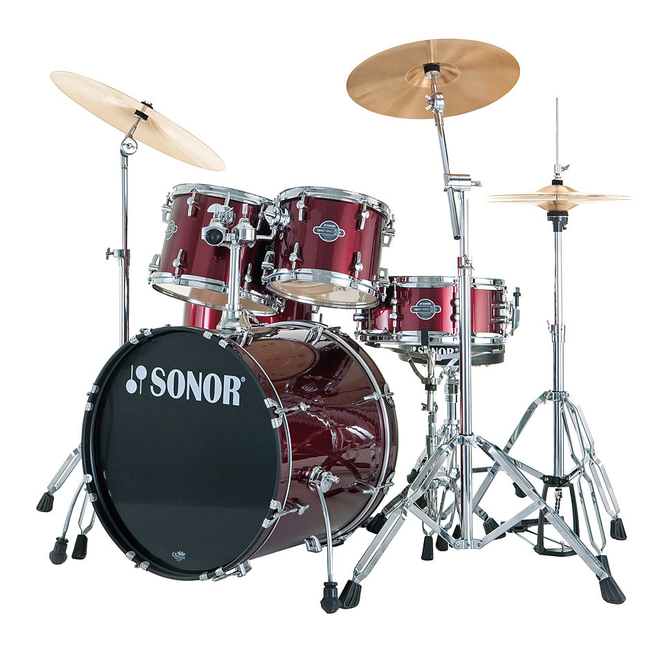 Sonor Smart Force Xtend Sfx 11 Combo Wine Red 171 Drum Kit