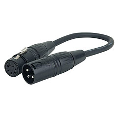 DAP Audio 3 pin XLR Male to 5 pin XLR Female « Câble de contrôle