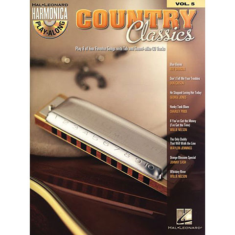Hal Leonard Harmonica Play-Along Vol.5 - Country Classics