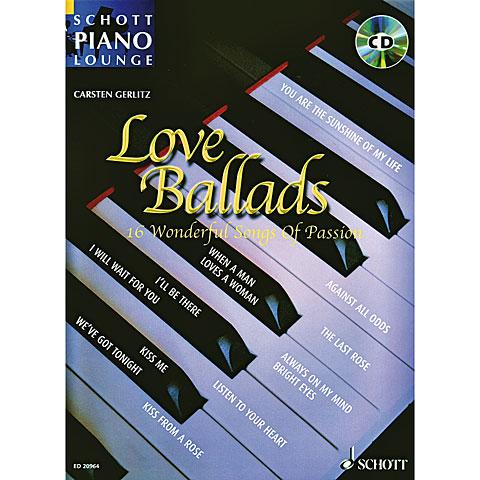 Libro de partituras Schott Piano Lounge Love Ballads