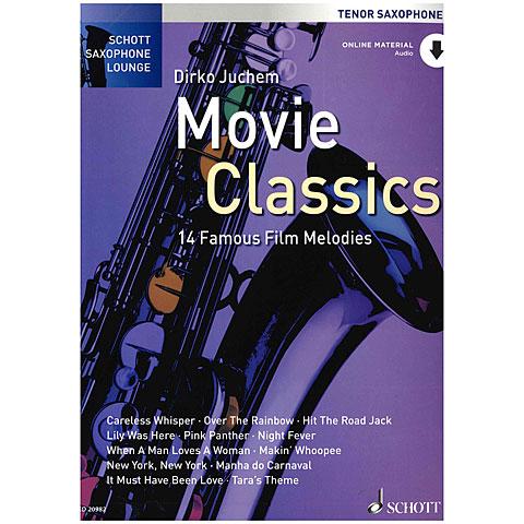 Libro de partituras Schott Saxophone Lounge - Movie Classics Tenor Sax