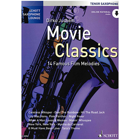Libro de partituras Schott Saxophone Lounge - Movie Classics