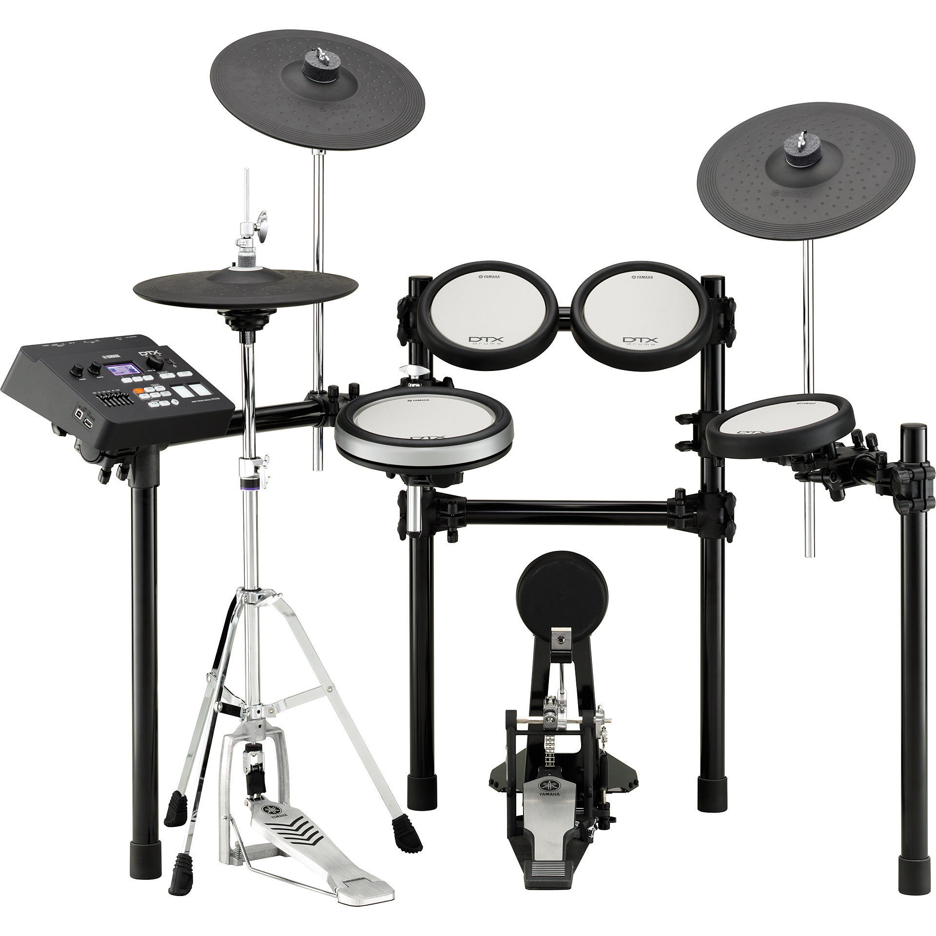 Yamaha dtx700k e drum set electronic drum kit for Electric drum set yamaha
