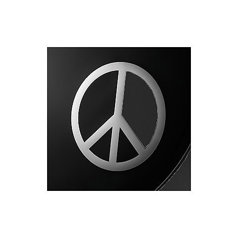 Remo Chrome Peace Sign 6 Bass Drum Port Musik Produktiv België