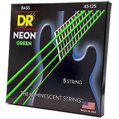 DR Neon Green Medium 5 « Corde basse électrique
