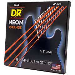 DR Neon Orange Medium 5 « Corde basse électrique