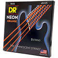 Struny do elektrycznej gitary basowej DR Neon Orange Medium 5