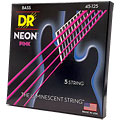 Struny do elektrycznej gitary basowej DR Neon Pink Medium 5