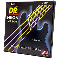 DR Neon Yellow Medium 5 « Corde basse électrique