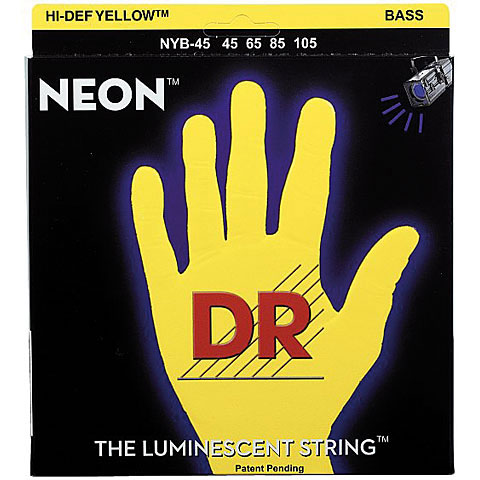 Saiten E-Bass DR Neon Yellow Medium