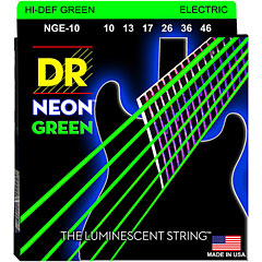 DR Neon Green Medium « Corde guitare électrique