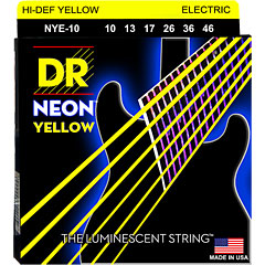 DR Neon Yellow Medium « Corde guitare électrique