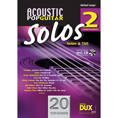 Libro de partituras Dux Acoustic Pop Guitar Solos 2