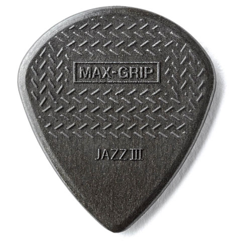 Plektrum Dunlop MAX GRIP Jazz III Carbon
