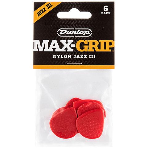 Plektrum Dunlop Max-Grip Jazz III Nylon (6 pcs)