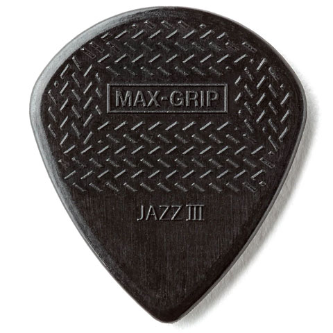 Médiators Dunlop Max-Grip Jazz III Stiffo (6 pcs)