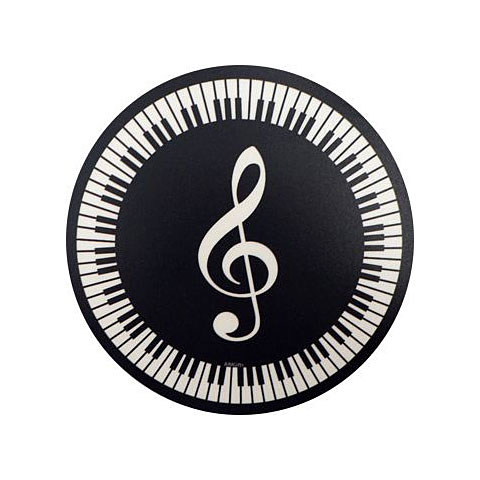 Tapis de souris AIM Gifts Mouse Mat - Treble Clef and Keyboard Design
