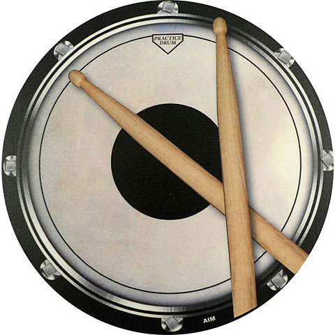 Alfombrilla para ratón AIM Gifts Mouse Mat - Drum Head And Sticks Design