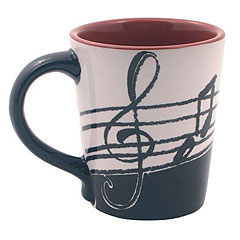 AIM Gifts Latte Mug - Music Notes