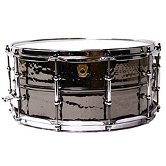 "Ludwig Black Beauty 14"" 6,5"" hammered « Caisse claire"
