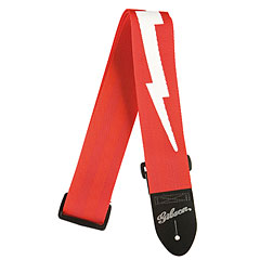 Gibson Nylon , Red, Lightning Bolt « Guitar Strap