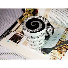 Musicwear Horizontal Sheet Music Mug and Lid « Coffee Cup