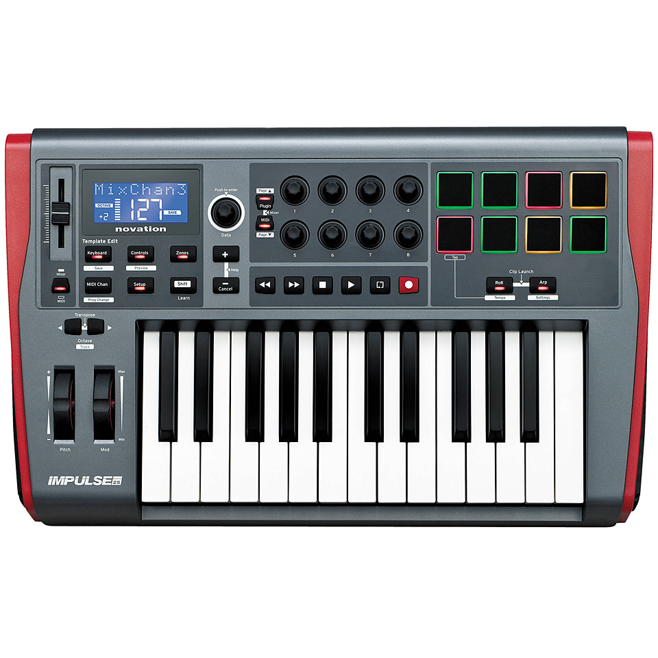 Midimasterkeyboards - Novation Impulse 25 Masterkeyboard - Onlineshop Musik Produktiv