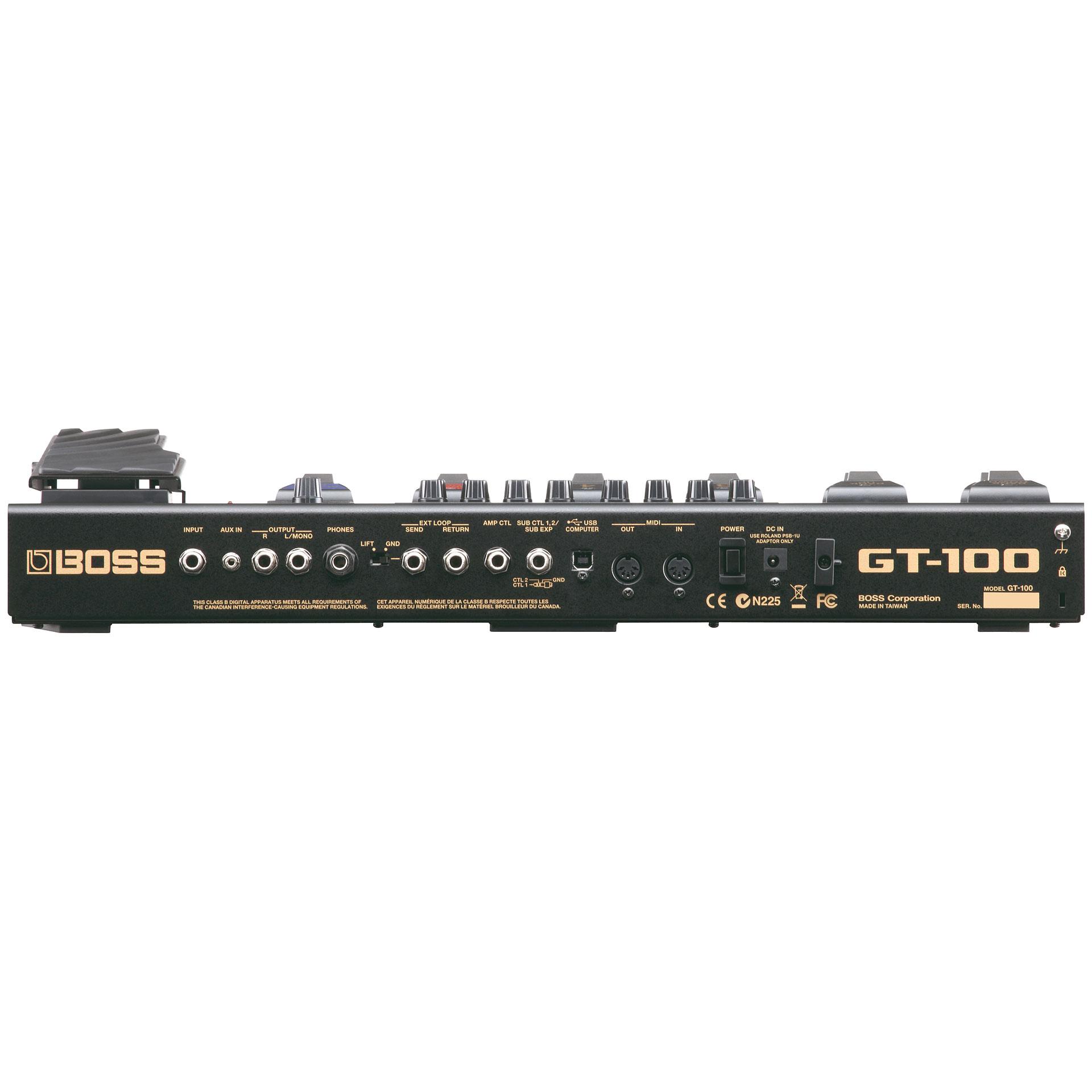 Multieffektgerät E Gitarre Boss GT 100 3