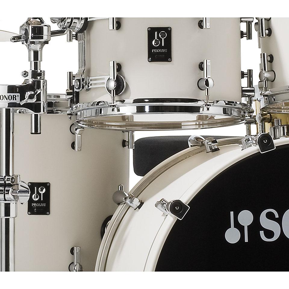 Sonor Prolite Pl 12 Studio1 Creme White 171 Drumstel