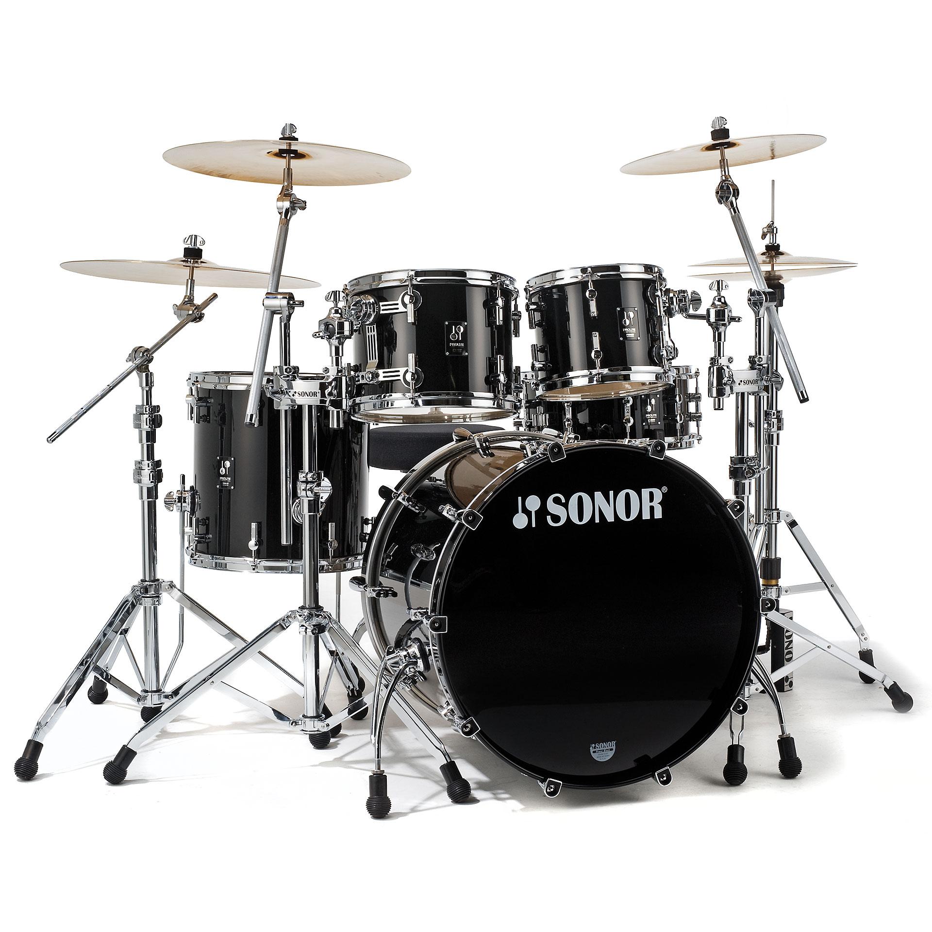Sonor Prolite Pl 12 Studio1 Brilliant Black 171 Drum Kit
